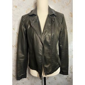 Tommy Hilfiger Faux Leather Moto Jacket Small
